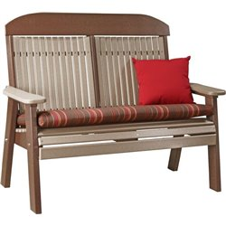 Weather Wood/Chestnut Brown (Cushion & Pillow NOT included)