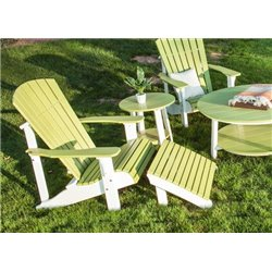Poly Outdoor Deluxe Adirondack Footrest