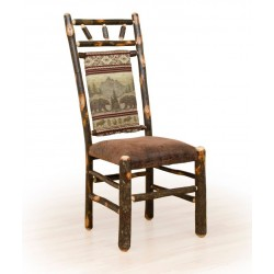 Two Rustic Hickory Dining Chairs - High Back