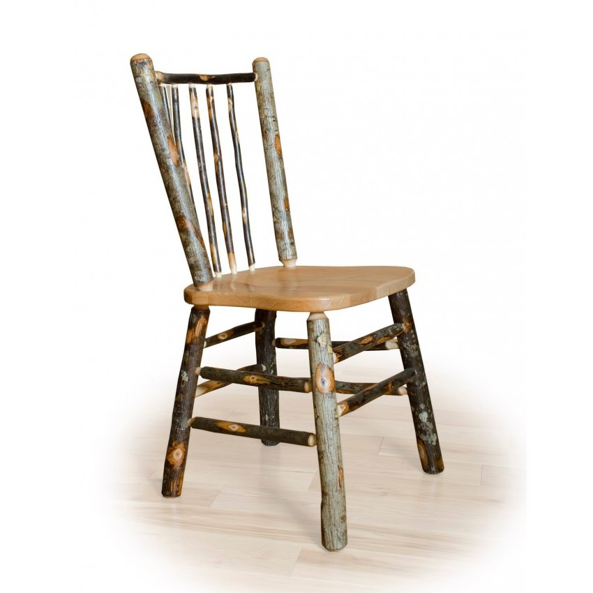 rustic hickory oak dining room set stick back dining chair