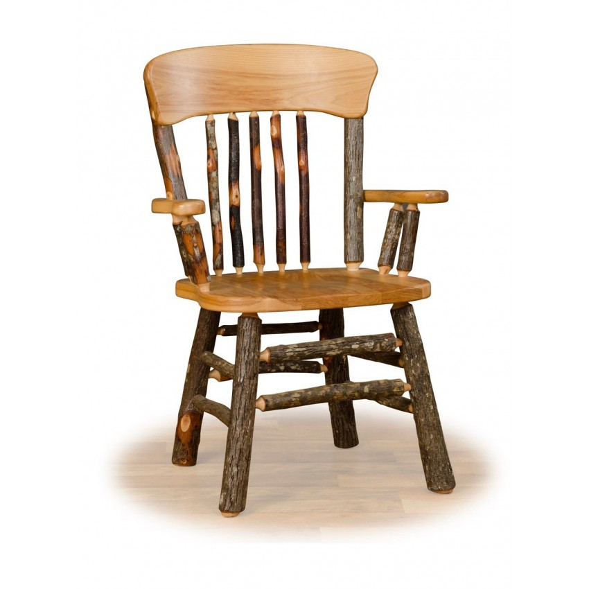 Rustic hickory and oak for Oak dining room chairs