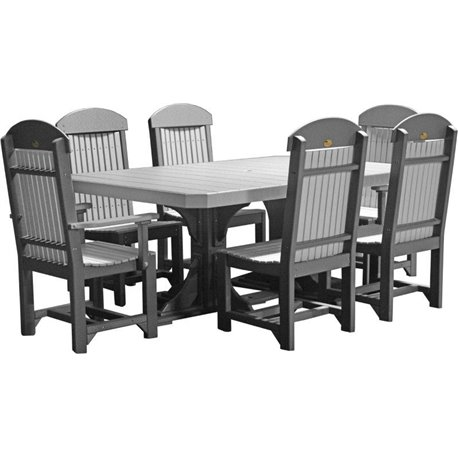 Astonishing Poly 4X6 Regtangle Double Pedestal Table Set Cjindustries Chair Design For Home Cjindustriesco