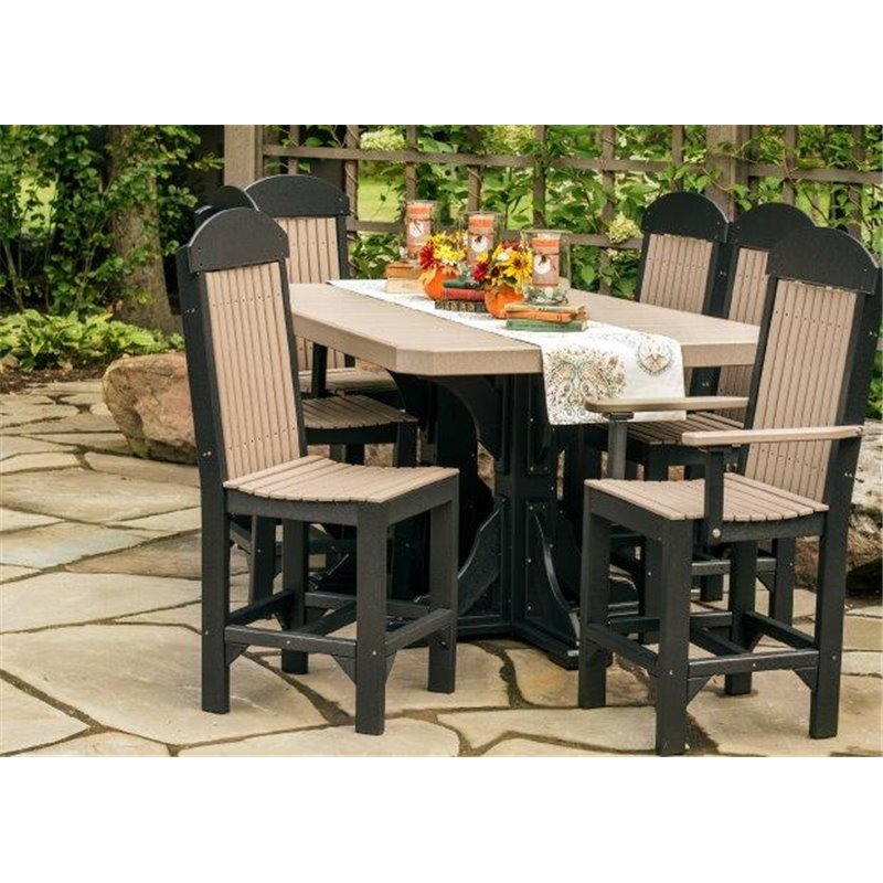 Poly 4x6 Regtangle Double Pedestal Table Set
