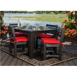 Black Table with Black Chairs (Seat Cushions are NOT included)