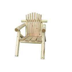 Rustic White Cedar Log Adirondack Chair