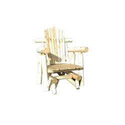 Rustic White Cedar Log Adirondack Glider Chair
