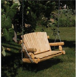 Rustic White Cedar Log Child's Swing