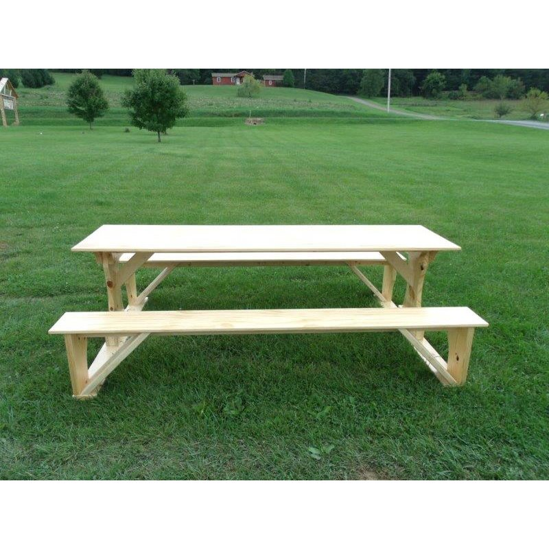 Incroyable Commercial Grade Indoor/Outdoor White Cedar Pub Trestle Table   4, 5, 6