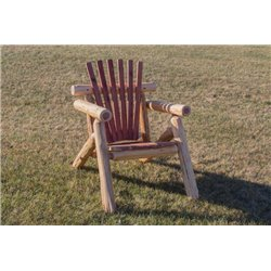Rustic Red Cedar Log Outdoor Adirondack Chair
