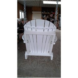 Poly Lumber Adirondack Swing Chair with Chains - Single Color