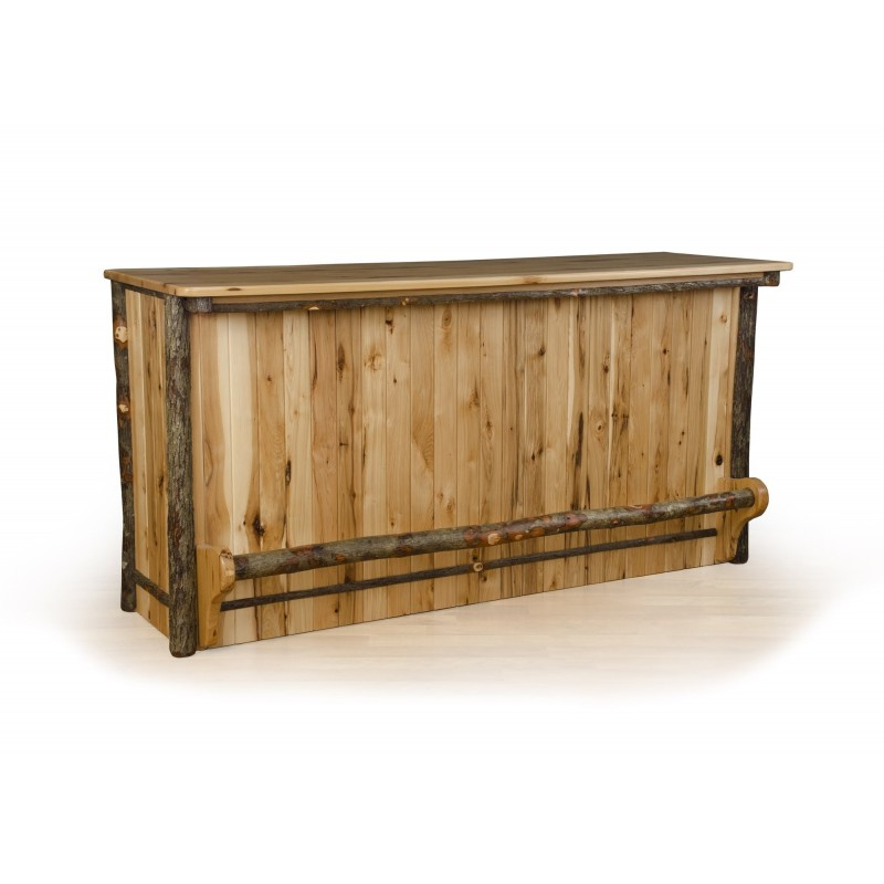 Rustic Hickory 5 Foot Bar With Rail