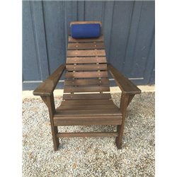 Navy Blue Head Pillow on Walnut Stain New Hope Chair