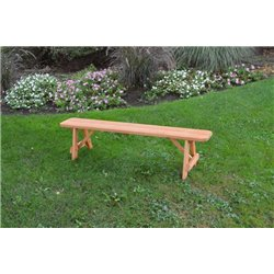 6 Foot Bench in Cedar Stain