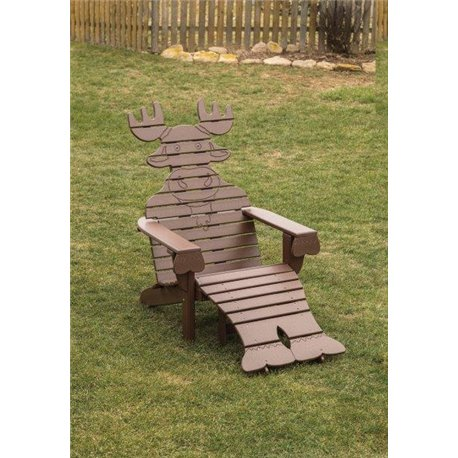 Poly Moose Adirondack Chair With Ottoman