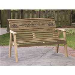 Pressure Treated Pine Unfinished Rollback 4 Foot Bench