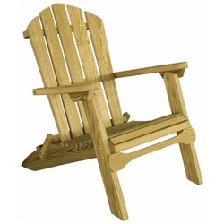 Pressure Treated Pine Folding Adirondack Chair