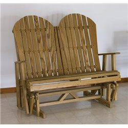 Pressure Treated Pine Adirondack Glider Bench - 4 Foot