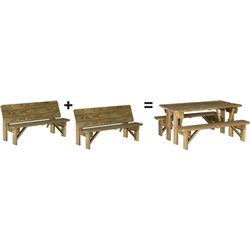 Pressure Treated Pine Convertible Bench - Set of 2
