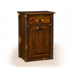 Rustic Hickory Tilt-Out Trash Bin
