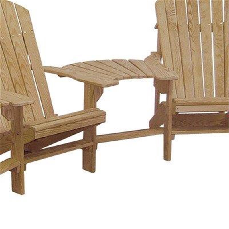 Unfinished Cypress Wood Adirondack Chairs With Center