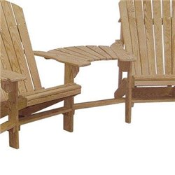 3 Cypress Wood Adirondack Chairs with 2 Center Table Connectors
