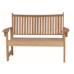4 Foot Cypress Wood Outdoor Garden Bench