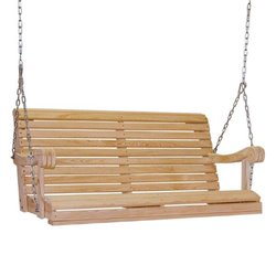 Unfinished Cypress Outdoor Porch Swing - 4 Foot