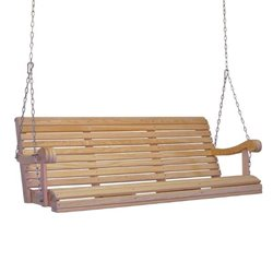 Unfinished Cypress Outdoor Porch Swing - 5 Foot