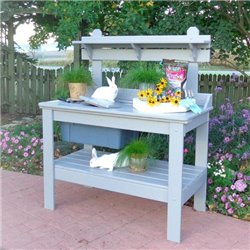 Cypress Potting Table with Bucket - SHIPS FULLY ASSEMBLED