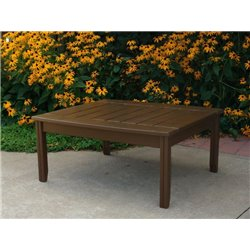 Conversation table in Chocolate Brown Paint