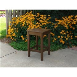 Accent Table in Chocolate Brown Paint