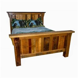Queen Size Reclaimed Barn Wood Bed without Trundle