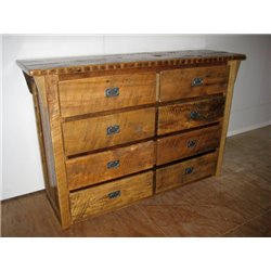 8 Drawer Dresser without Mirror in Clear Coat Finish
