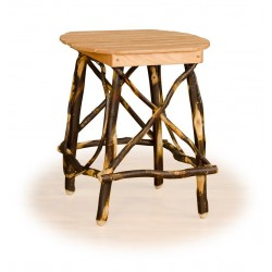 Rustic Hickory & Oak Oval End Table