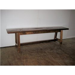 Rustic Barn Wood 6 Foot Dining/Hall Bench - Clear Coat Finish