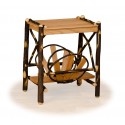 Rustic Hickory Magazine Rack End Table