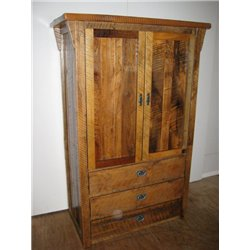 Rustic Reclaimed Barn Wood Armoire Storage Closet