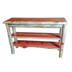 Rustic Red Cedar Log Live Edge TV Stand / Console Table