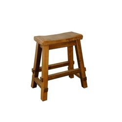 "Rustic Reclaimed Barn Wood Saddle Stool 30"" in Natural Clear Varnish"