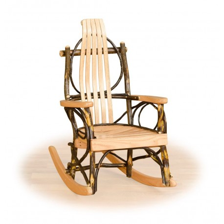 Rustic Hickory u0026 Oak Childrensu0027 Rocker  sc 1 st  Furniture Barn USA & Rustic Hickory Twig Childrensu0027 Rocking Chair