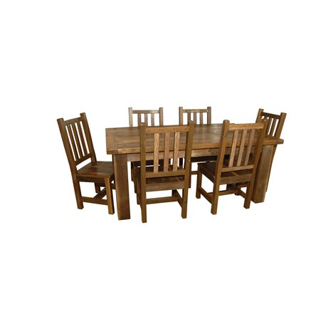 Rustic Reclaimed Barn Wood Dining Table And 6 Chairs Barn Wood
