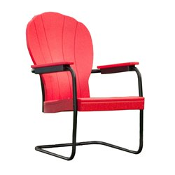 Retro Series Outdoor Manchester Poly Patio chair - Bright Red