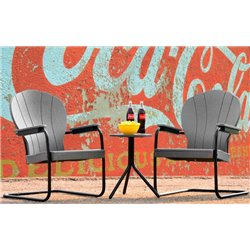 Retro Series Outdoor Manchester Poly Patio chair - Charcoal