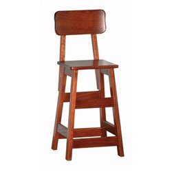 Heirloom Cherry Toddler Kitchen/Dining Stool with Back