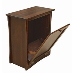 Brown Maple Tilt Out Trash/Recycling Bin