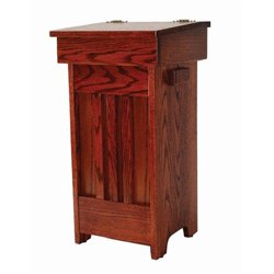 Oak Mission Trash/Recycling Bin with Lift Up Lid