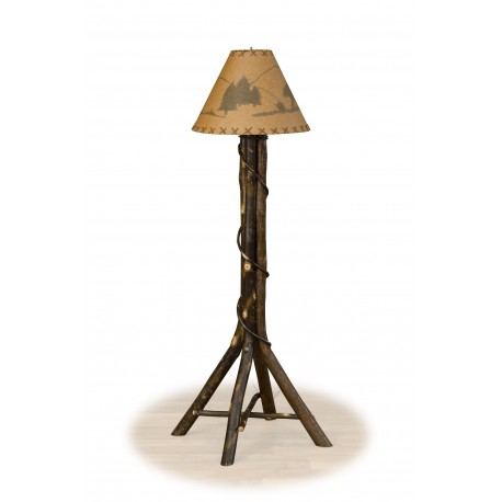 Rustic Hickory Floor Lamp