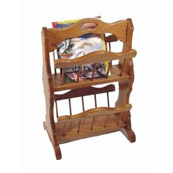 Oak Double Storage Rack with Handle