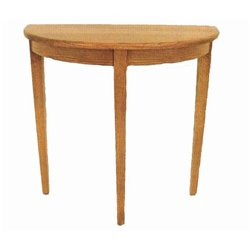 Oak Hall/Foyer Half Round Accent Table