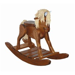 Heirloom Oak Child's Deluxe Rocking Horse